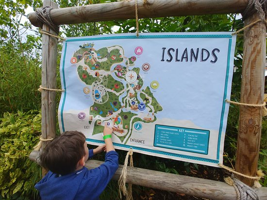 Chester Zoo New Island Area Map