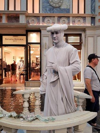 Site seeing at the Venetian Hotel in Vegas