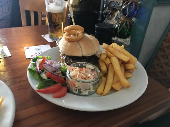 Burry Port, UK: Burger with chicken