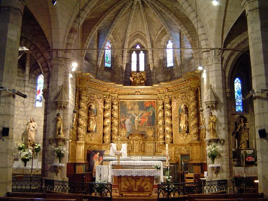 Pomerols, צרפת: Retable Baroque église Saint-Cyr et Sainte-Julite