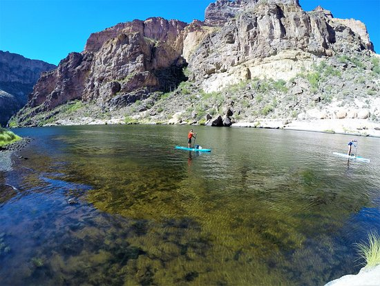Riverbound Sports Stand Up Paddleboards: Canyon Lake in October.