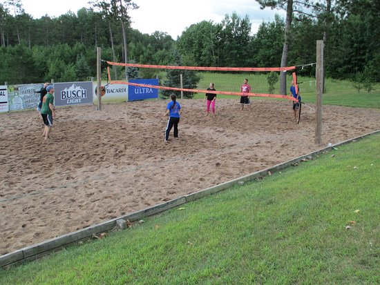 Trego, WI: Beach volleyball