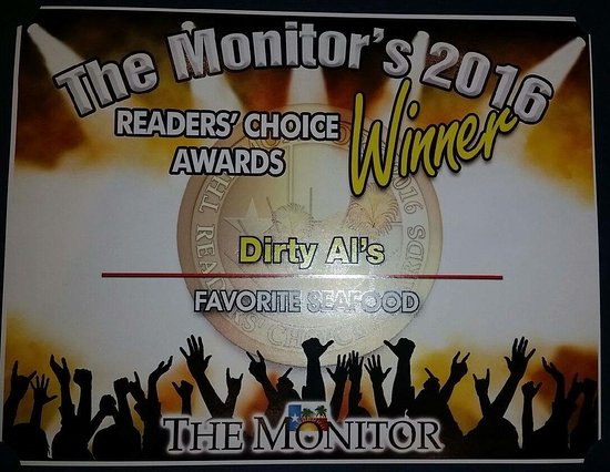 Dirty Al S Bayou Grill Voted Best Seafood Restaurant By The People Of Mcallen 2016