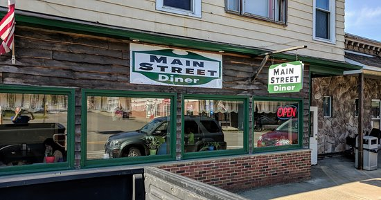 Sherman, NY: Entrance to Diner