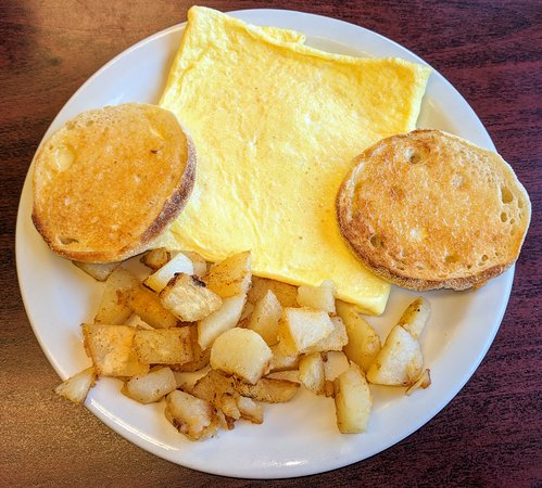 Sherman, NY: Cheese Omelet, Home Fries & English Muffin
