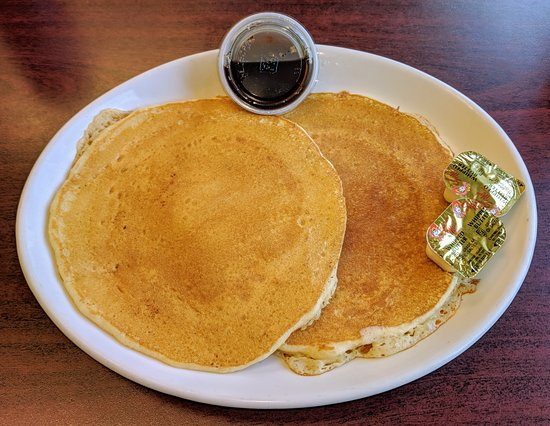 Sherman, NY: Pancakes (from mix) and Real Maple Syrup