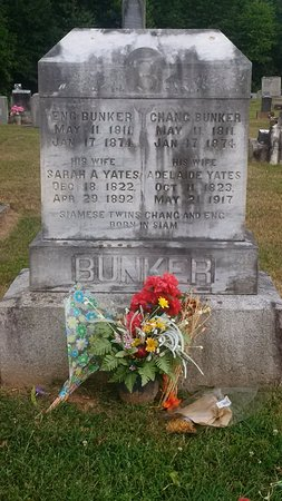 Resting Place of Chang and Eng Bunker, Siamese Twins