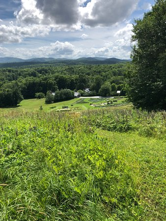 Barnard, VT: Summertime views from the ski slopes.