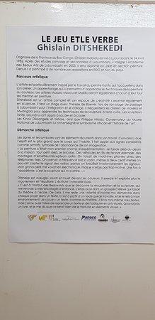 Galerie d'Art Contemporain du Musee D'Art de Lubumbashi: L'exposition en cours... au mois de juillet 2018