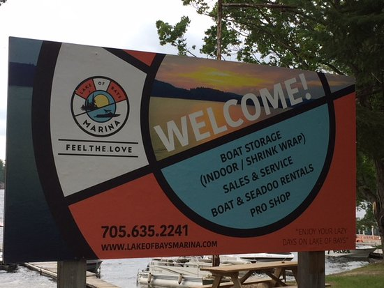 Dwight, Kanada: Welcome to Lake of Bays Marina
