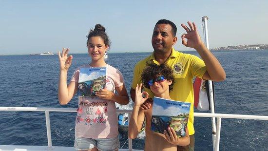 New Son Bijou Diving Center: new Junior PADI Open Water divers #newsonbijou #padi #owd #Hurghada #Egypt #RedSea #divingcourse