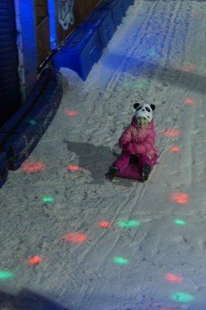 SnowDome: tiny sledging