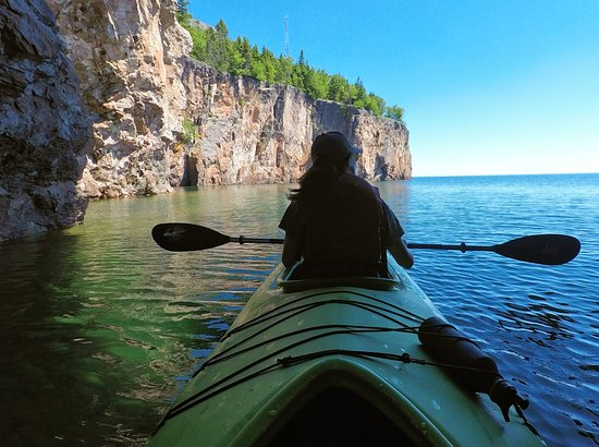 Sawtooth Outfitters: Kayaking near Palisade Head, Silver Bay MN