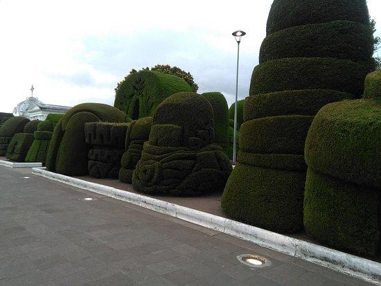 Cementerio Municipal de Tulcan: Las figuras de pino