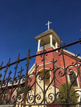 Knights Ferry, Kalifornien: Historic Church in Knight's Ferry.