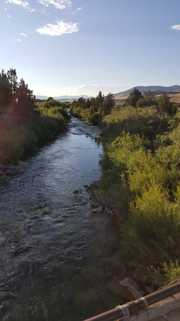 Alder, MT: Ruby River that runs through the property for fly fishing