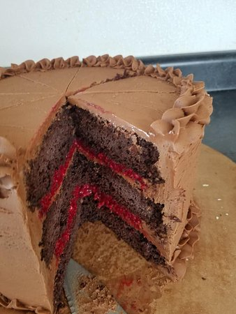 Cloverdale, IN: Chocolate raspberry cake-amazing!