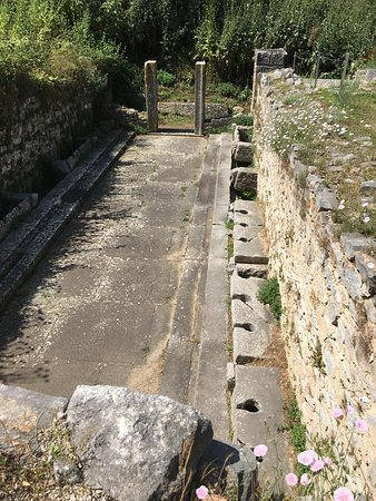 Filippi Archaeological Site: Roman toilets around the back of the colossal church ruins