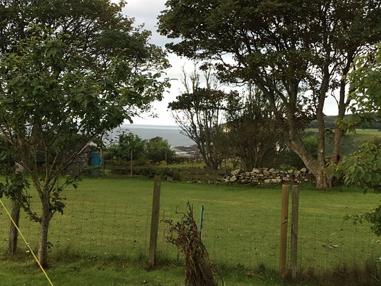Dunbeath, UK: View from motor home