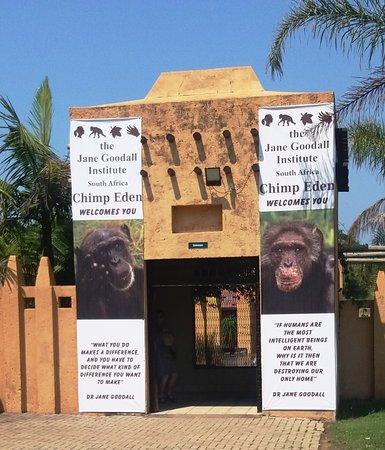 Jane Goodall Chimpanzee Eden Sanctuary : wejście do Instytutu Szympansów 2