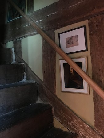 The lovely staircase right next to the front door