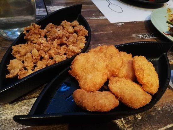 Beer Snacks: Crunchy Chicken Cartilege  & Thai Prawn Cake