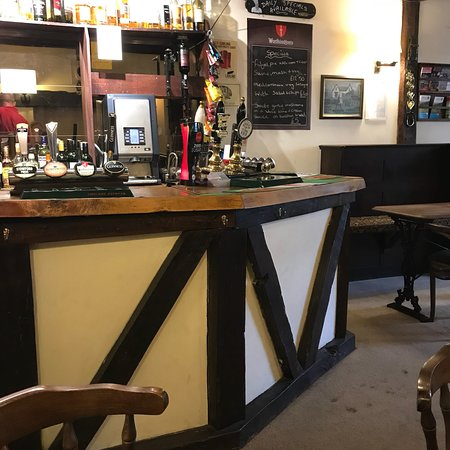 Penybont, UK: Bar area