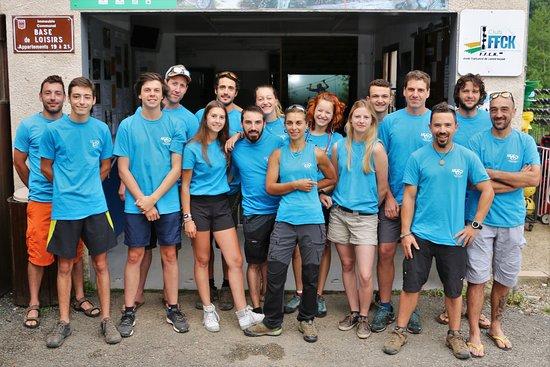 Najac, Francja: Notre équipe saisonnière 2018 prête à vous accueillir tous les jours pour de multiples activités
