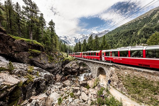 Swiss Alps, Switzerland: Bernina Express