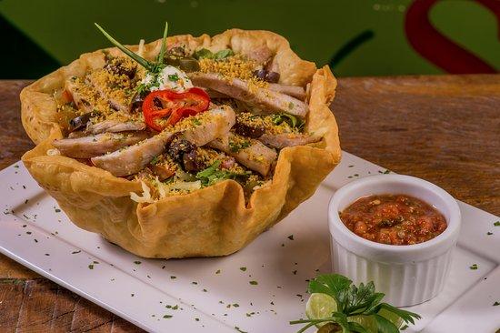La Frontera: Taco salads:  Grilled chicken, ground beef, steak or shriimp.