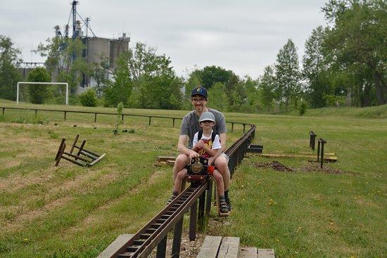Komoka, Canada: Riding with Son on the train