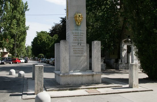 Ilirija column in French Revolution Square