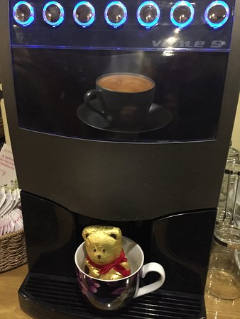 We care for our guests with best coffee fresh from the bean cappuccino latte choc