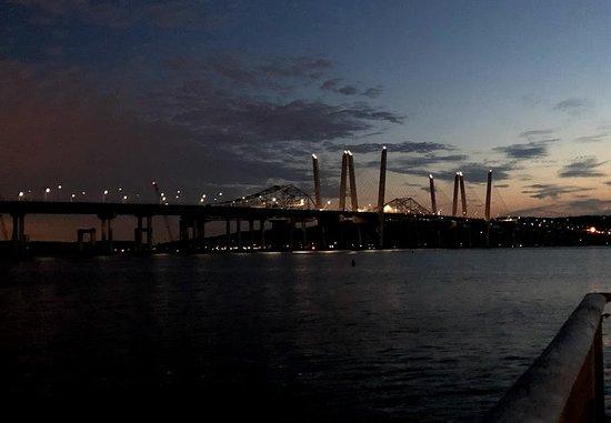 New Tappan Zee Bridge  at night