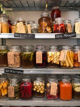 Beautiful assortment of pickled veggies