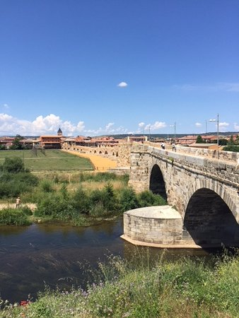 Lovely Roman bridge leading into Hospital de Obrigo