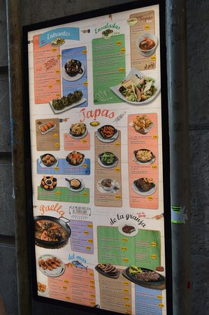 What's on offer - it is a typical tapas restaurant