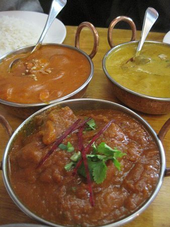 Master of India: butter chicken, lamb