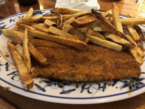 Cedarville, MI: Cajun whitefish and fries