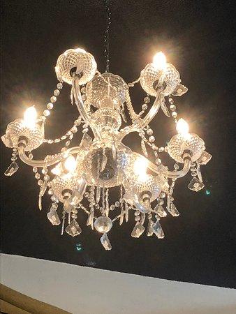 Blackboard Cafe: ceiling light