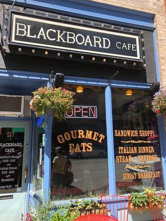 Blackboard Cafe: front door