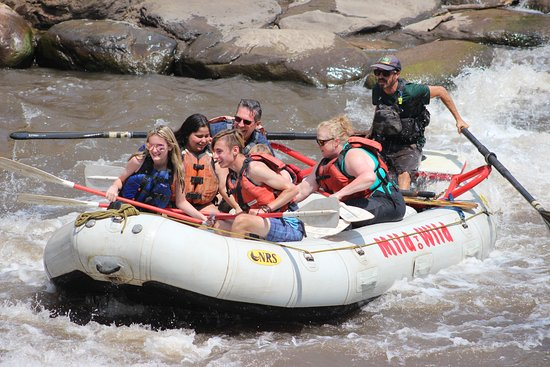 Economy Family Rafting In Durango: Going down the class 3 rapids one of the highpoints of the trip
