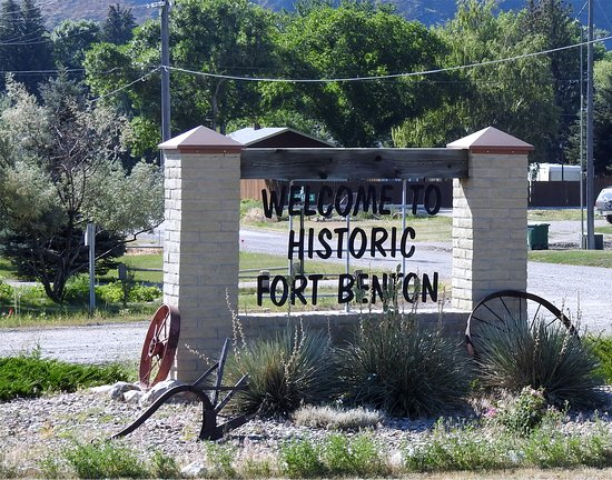 Fort Benton Museums & Heritage Complex: The sign for the city