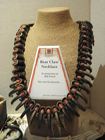 one of the displays of authentic Blackfoot Indian