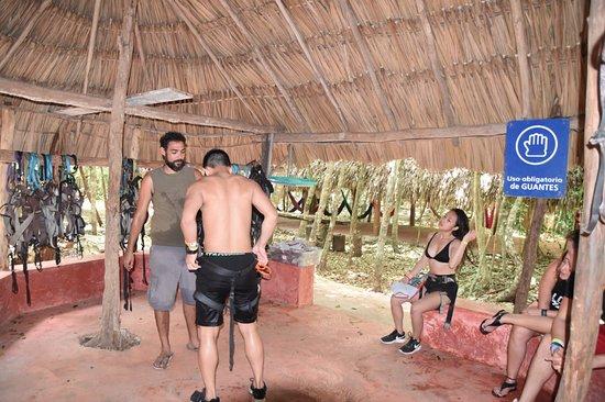 Cancun ATV Tours: Equipment for all our fun trip