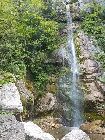 Tolmin, Eslovênia: Guided trip to visit two beautiful waterfalls-Beri and Sopota water fall. easy ride.