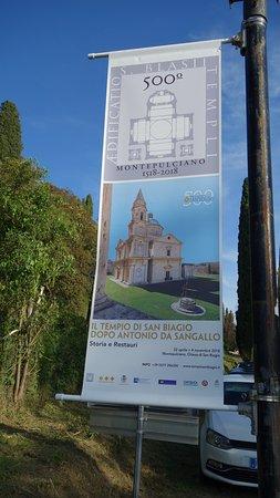 Tempio di San Biagio: MANIFESTO CHE RICORDA IL 500° ANNIVERSARIO