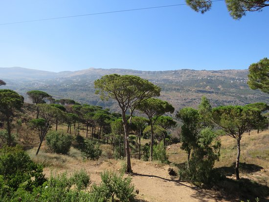 Deir El Harf, Lebanon: View from Pool