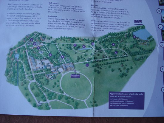 House Garden Map >> Plan Of House Gardens And Park Picture Of Belton House Grantham
