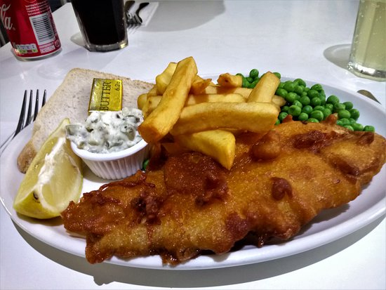 Freuchie, UK: Fish and chips